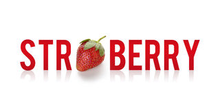 Strawberry - typography design Royalty Free Stock Image