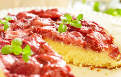 Strawberry Upside Down Cake Royalty Free Stock Photo