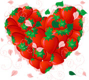 Strawberry valentine Stock Image
