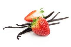 Strawberry and vanilla Royalty Free Stock Photos