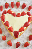 Strawberry Vanilla Cake Stock Images