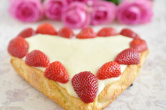 Strawberry Vanilla Cake Royalty Free Stock Photos