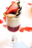 Strawberry and Vanilla Desert Royalty Free Stock Images