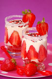 Strawberry and vanilla dessert Royalty Free Stock Photos