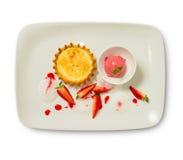 Strawberry Vanilla Dessert Royalty Free Stock Photo