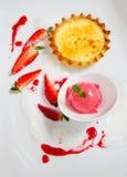 Strawberry Vanilla Dessert Stock Photo