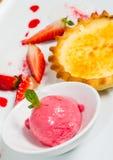 Strawberry Vanilla Dessert Royalty Free Stock Photos