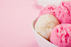 Strawberry Vanilla Ice Cream Stock Photography