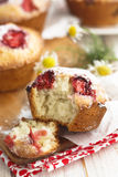 Strawberry and vanilla muffins Stock Photography