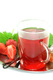 Strawberry vanilla tea Royalty Free Stock Photography