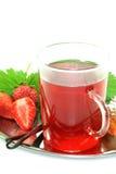 Strawberry vanilla tea Royalty Free Stock Photography