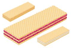 Strawberry vanilla wafer. Wafers food chocolate white amount strawberry vanilla stock photo