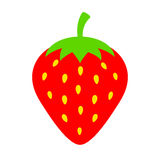 Strawberry vector icon Royalty Free Stock Photography