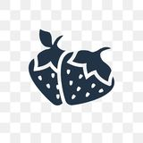 Strawberry vector icon isolated on transparent background, Straw. Berry transparency concept can be used web and mobile, Strawberry icon vector illustration