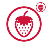 Strawberry vector icon. Stock Photography
