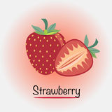 Strawberry. Vector illustration. Vector EPS of Fresh Strawberry Royalty Free Stock Photo