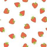 Strawberry vector seamless pattern. Cute tasty Stock Photos
