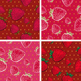 Strawberry Vector Seamless Texture Stock Photos