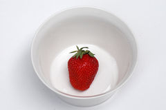 A strawberry in vessel Royalty Free Stock Image