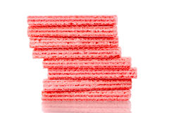 Strawberry Wafer Cookies Royalty Free Stock Image