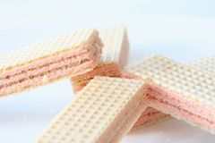 Strawberry Wafers Stock Photography