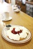 Strawberry waffle Stock Photography