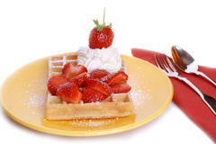 Strawberry waffle Royalty Free Stock Images