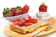 Strawberry waffle Royalty Free Stock Photography