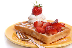 Strawberry waffle Royalty Free Stock Photo