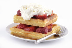 Strawberry waffles Royalty Free Stock Image
