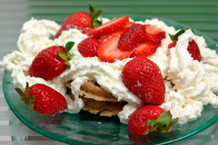 Strawberry Waffles Royalty Free Stock Photo