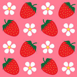 Strawberry wallpaper background Stock Image