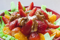 Strawberry and walnut salad Stock Images