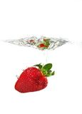 Strawberry in water Royalty Free Stock Image