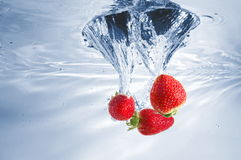 Strawberry in water Stock Photo