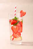 Strawberry water detox Royalty Free Stock Photo