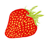 Strawberry watercolor painting Royalty Free Stock Photography