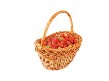Strawberry in a wattled basket Royalty Free Stock Photo