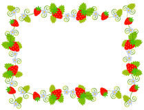 Strawberry web frame Royalty Free Stock Images