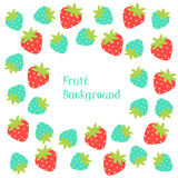 Strawberry web frame Royalty Free Stock Photos