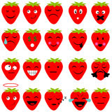 Strawberry web icon Royalty Free Stock Images
