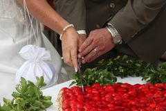 Strawberry Wedding cake Stock Image