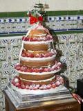 Strawberry wedding cake Stock Photos