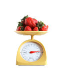 Strawberry Weighing Stock Image