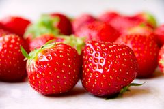 Strawberry which and wants to be eaten Royalty Free Stock Images