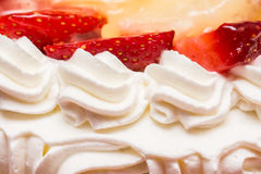 Strawberry Whip Cream Cake Stock Photography