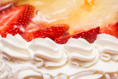Strawberry Whip Cream Cake Royalty Free Stock Images