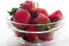 Strawberry on  white backgorund. Royalty Free Stock Photography