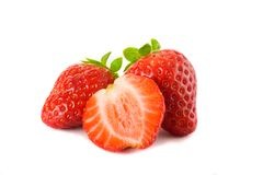Strawberry on a white background Royalty Free Stock Photos