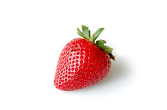 Strawberry. A strawberry on a white background Royalty Free Stock Images